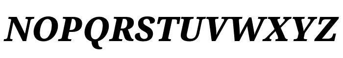 Serif ExtraBold Italic Font UPPERCASE