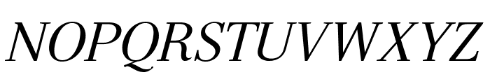 Serif-Italic Font UPPERCASE