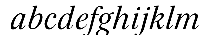 Serif-Italic Font LOWERCASE