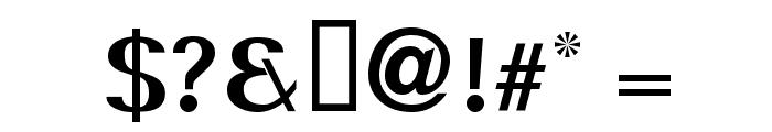 Serif Medium Font OTHER CHARS