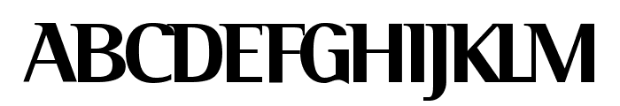Serif Medium Font UPPERCASE
