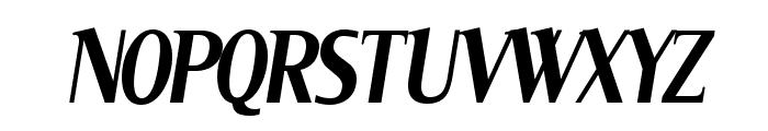 Serif Narrow Italic Font UPPERCASE
