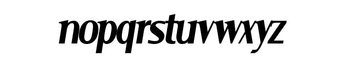 Serif Narrow Italic Font LOWERCASE