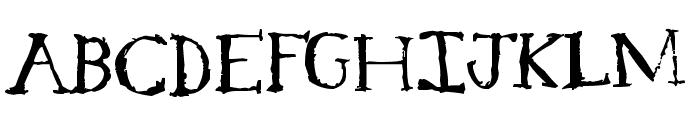 Serif Sketch Font UPPERCASE