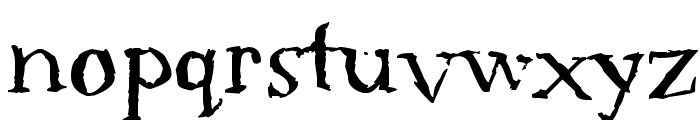 Serif Sketch Font LOWERCASE