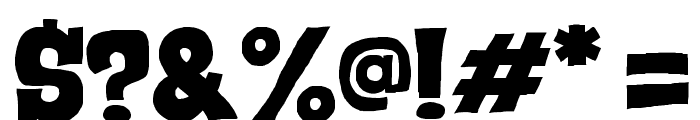 Serif of Nottingham Font OTHER CHARS