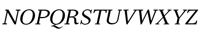 Serif12Beta-Italic Font UPPERCASE
