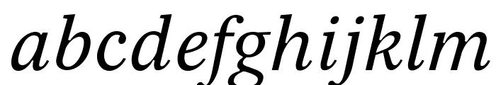 Serif12Beta-Italic Font LOWERCASE