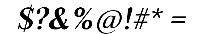 Serif6Beta-BoldItalic Font OTHER CHARS