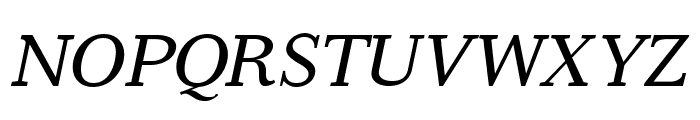 Serif6Beta-Italic Font UPPERCASE