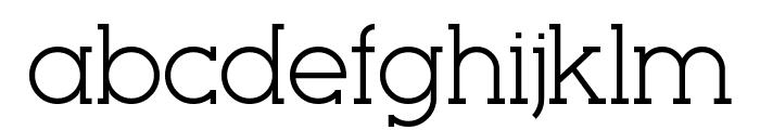 Seriffic Font LOWERCASE