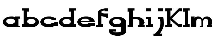 Serifonwide Font LOWERCASE