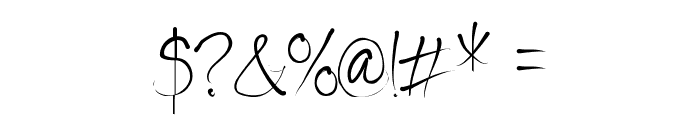 Seriously Delirious Font OTHER CHARS