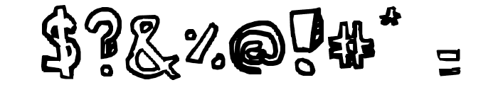 Ser's font Font OTHER CHARS