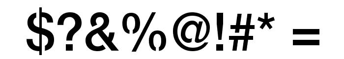 Servetica Medium Font OTHER CHARS
