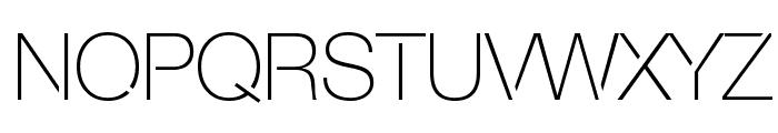 Servetica Thin Font UPPERCASE