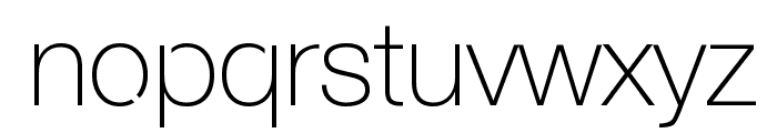 Servetica Thin Font LOWERCASE