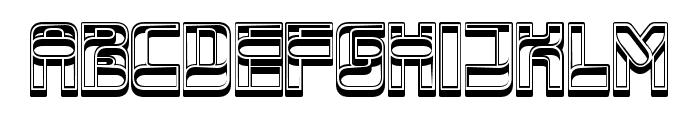 Service Regular Font UPPERCASE