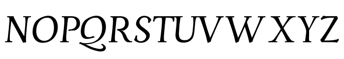 Servus Text Display Italic display Font UPPERCASE