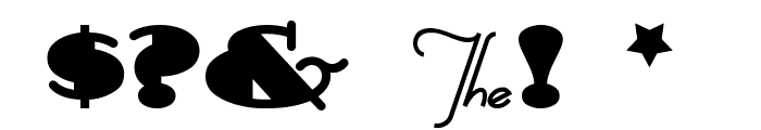 Sesquipedalian Font OTHER CHARS