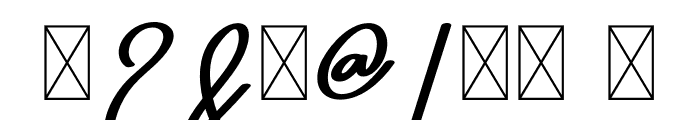 Seven Day Signature Font OTHER CHARS