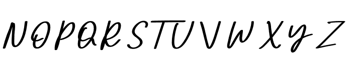 Seven Day Signature Font UPPERCASE