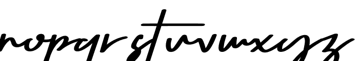 Seven Day Signature Font LOWERCASE