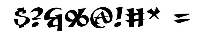 Seven Swordsmen BB Font OTHER CHARS
