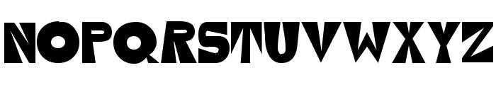 Seventy Flares Font UPPERCASE