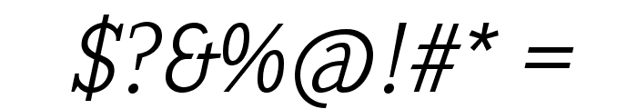 SextanLight-Italic Font OTHER CHARS