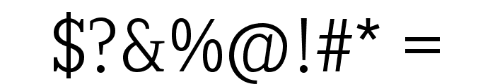 SextanLight Font OTHER CHARS