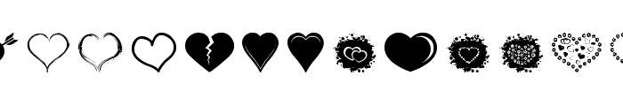 Sexy Love Hearts 2 Font UPPERCASE