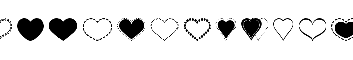 Sexy Love Hearts 2 Font LOWERCASE
