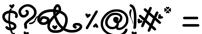 SexyRexy Font OTHER CHARS