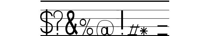 SeyesNDE Font OTHER CHARS