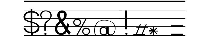 SeyesNDL Font OTHER CHARS