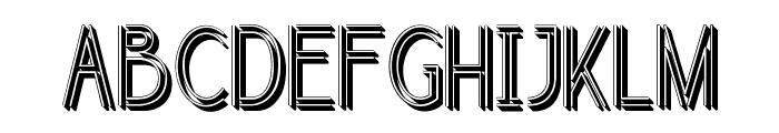 selari 3D Font UPPERCASE