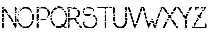 serial killer Font UPPERCASE