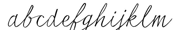 seriousSally_Trial Font LOWERCASE