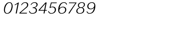 Seconda XtraSoft Thin Italic Font OTHER CHARS