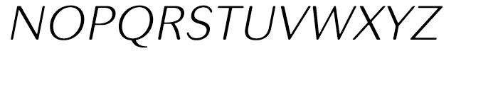 Seconda XtraSoft Thin Italic Font UPPERCASE