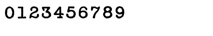 Secret Service Typewriter Regular Font OTHER CHARS