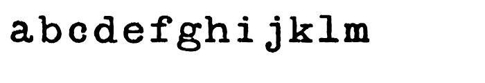 Secret Service Typewriter Regular Font LOWERCASE