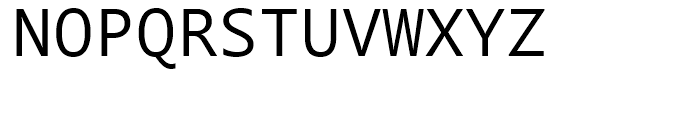 Segoe Mono Regular Font UPPERCASE