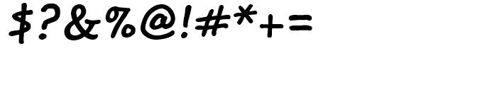 Segoe Print Bold Font OTHER CHARS