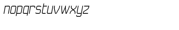 Seize Light Italic Font LOWERCASE