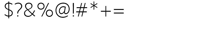 Sense ExtraLight Font OTHER CHARS