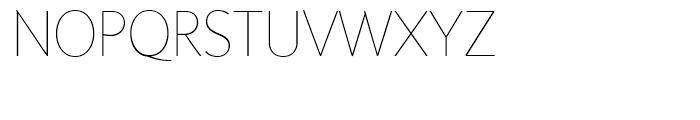 Sensibility Thin Font UPPERCASE