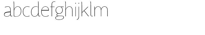 Sensibility Thin Font LOWERCASE