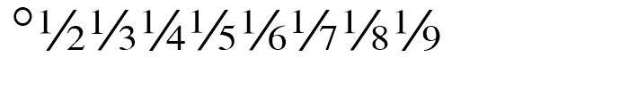 Seri Fractions Diagonal Plain Font OTHER CHARS